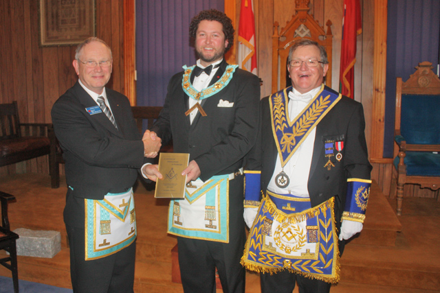 Presentation to Spry Lodge by W. Bro. Gord Forrest